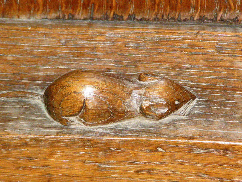 church mouse - woodwork in Easingwold Parish Church - Diocese of York