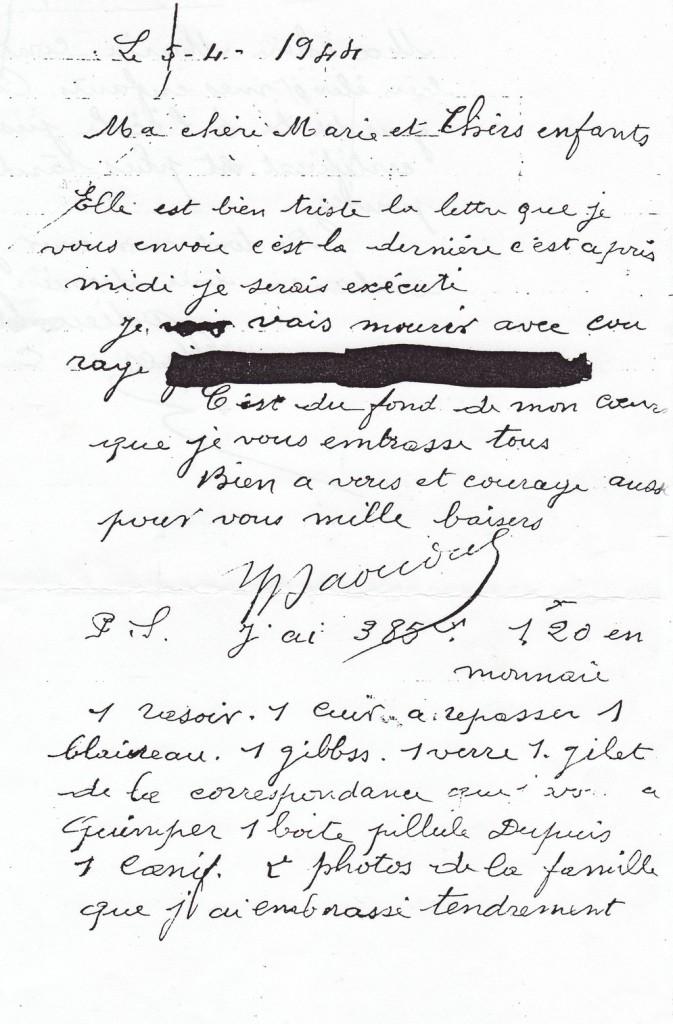 Letter - Daoudal - caviardage