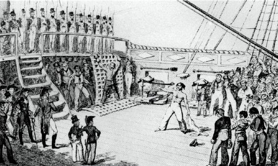 Navy - flogging - around 1800