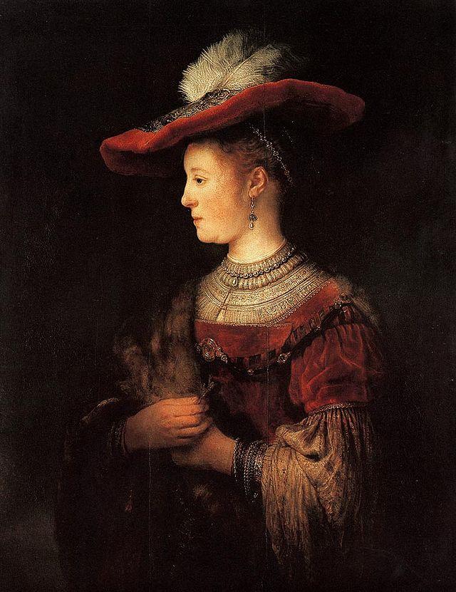 Portrait of Saskia van Uylenburgh by Rembrandt