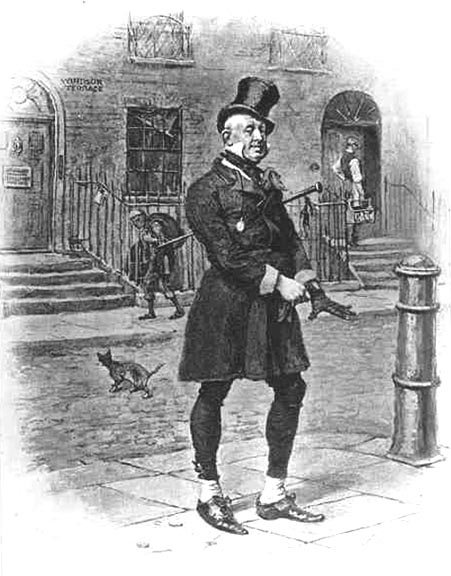 Wilkins Micawber as illustrated in a 1912 edition of David Copperfield
