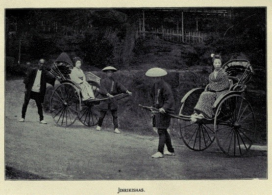 jinrikshas - The Gist of Japan (1897), by the Reverend R. B. Peery