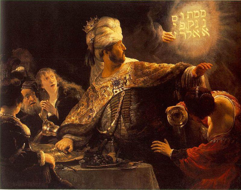Rembrandt - Belshazzar's Feast (1635)