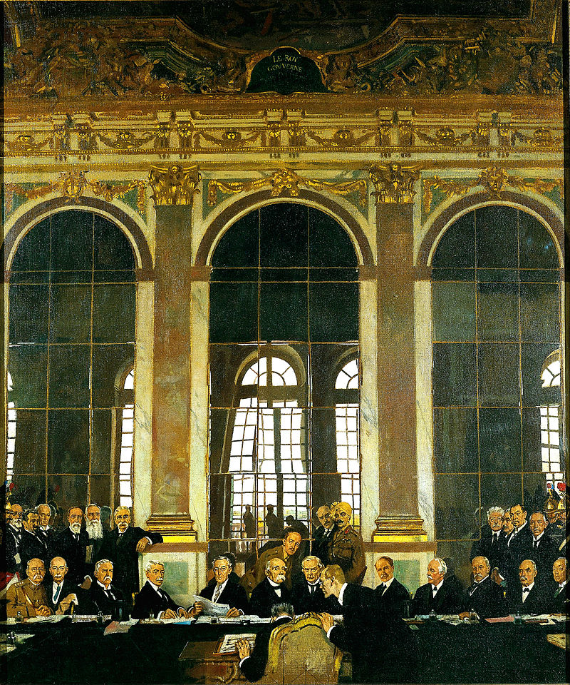 Sir William Orpen, The Signing of Peace in the Hall of Mirrors, Versailles, 28th June 1919