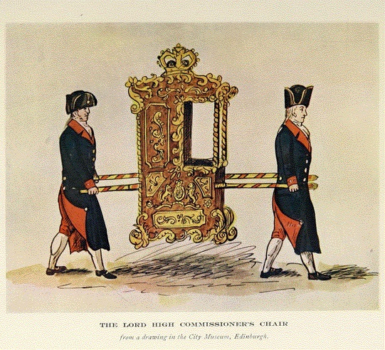 The Lord High Commisioner's chair - from a drawing in the City Museum, Edinburgh
