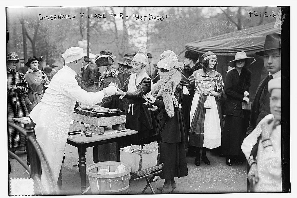 Greenwich Village Fair -Hot Dogs - June 1917