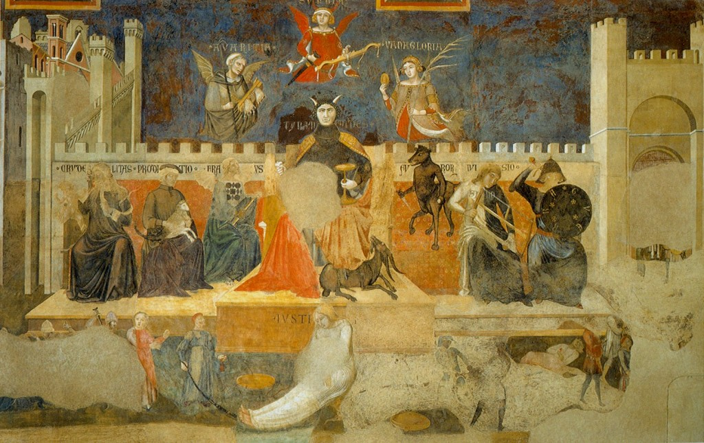 Siena Allegory of Bad Government (1338-39) by Ambrogio Lorenzetti (circa 1290-1348)