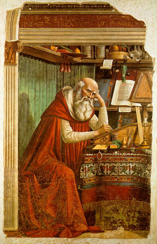 St Jerome in His Study (1480), by Domenico Ghirlandaio