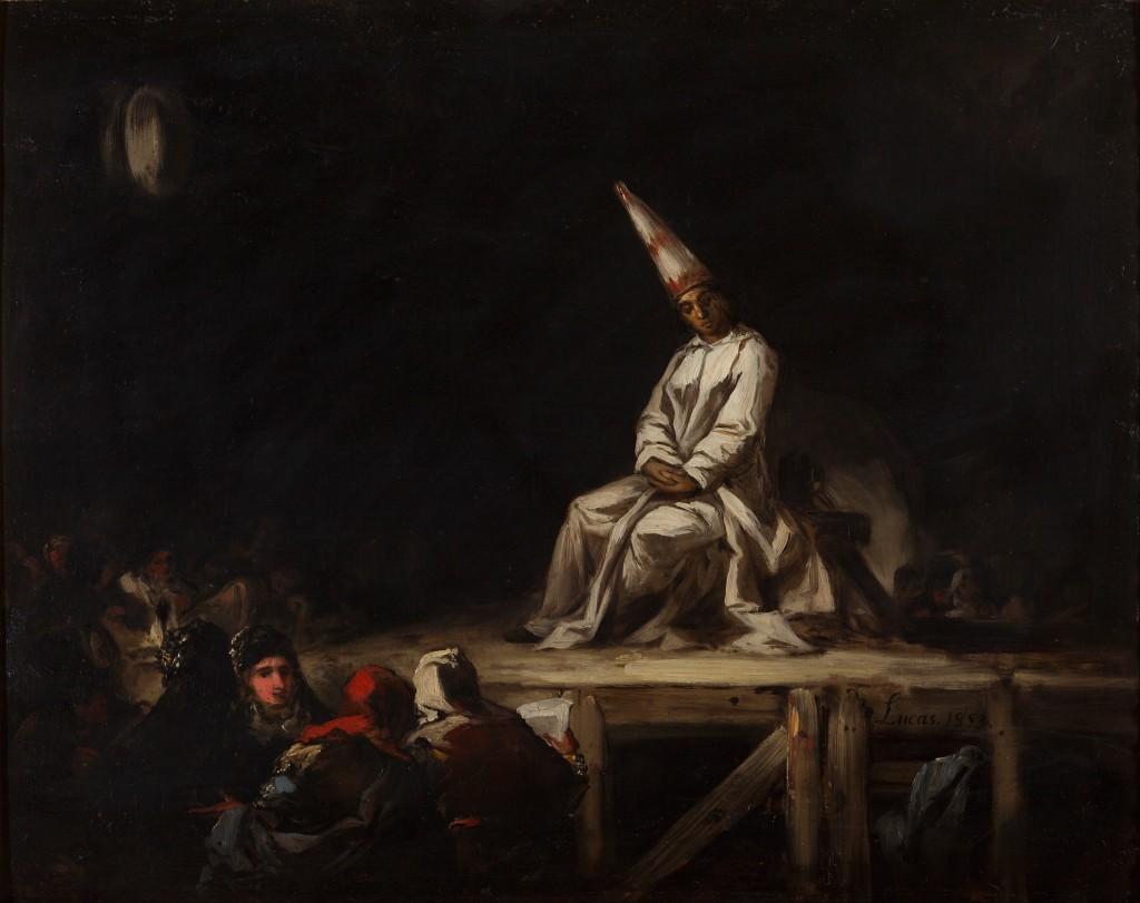 Auto-da-fé (1853), by Eugenio Lucas Velázquez (1817-70)