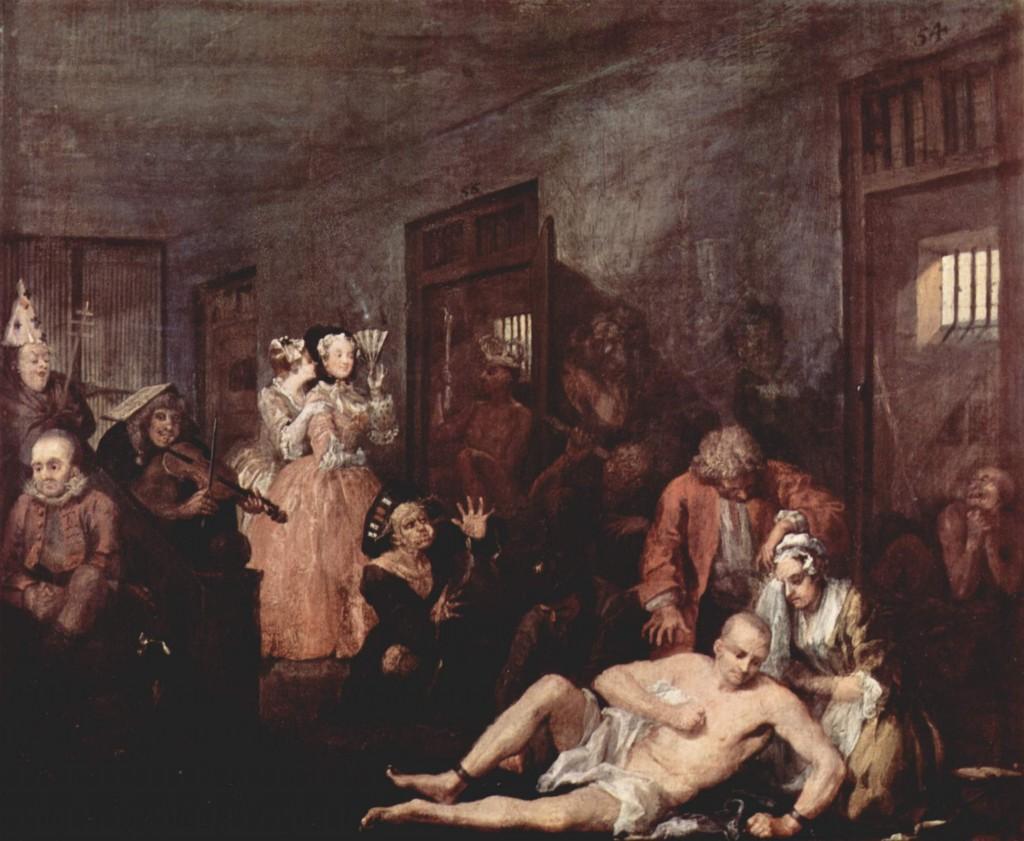 William Hogarth - A Rake's Progress (1735)