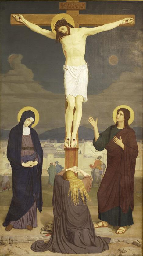 Kreuzigung (Crucifixion - 1868), by Gabriel Wüger (1829–1892)