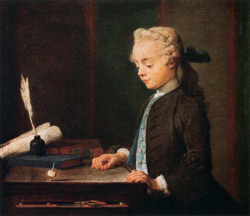 L'Enfant au toton (1738), by Jean-Siméon Chardin (1699-1779)