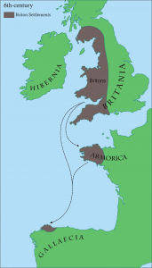 Briton settlements in the 6th century