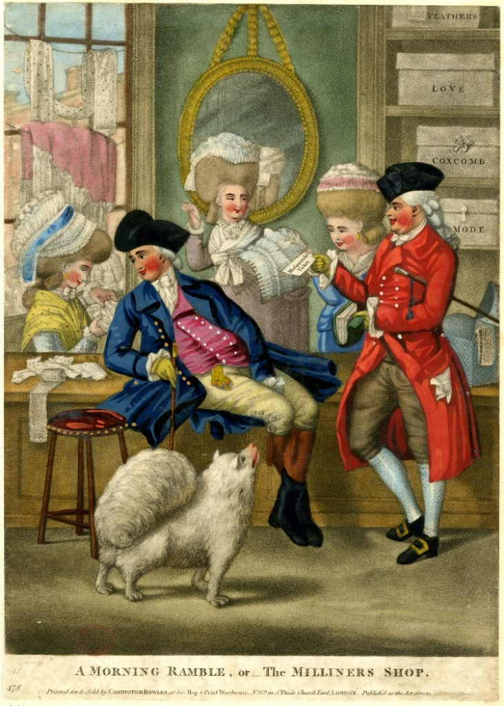 A Morning Ramble, or The Milliners Shop (1782)