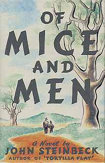 Of Mice and Men (1937), by John Steinbeck – first edition cover designed by George Salter