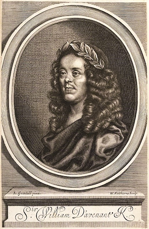 NPG D22719; Sir William Davenant by William Faithorne, after  John Greenhill