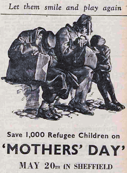 refugees - 'Mother's Day' appeal - Sheffield Telegraph and Daily Independent – 10 May 1939